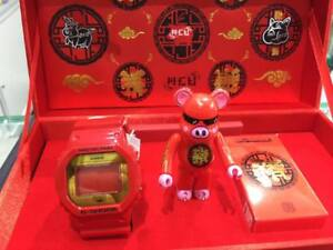 Details about New CASIO G SHOCK x ACU x BE@RBRICK Red DW-5600CX-4PRP  CHINESE YEAR 2019 PIG