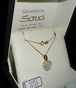 Collana-oro-giallo-750-18-kt-e-ciondolo-Cuore-in-oro-750-18-kt-e-zirconi-Gr-2-5