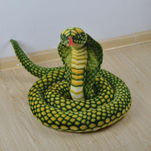 "110/""(2.8m) Stuffed Animal Emulational Anaconda Green Snake King Cobra Plush Toy"
