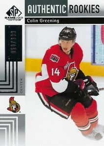 2011-12-SP-GAME-USED-AUTHENTIC-ROOKIES-COLIN-GREENING-RC-699