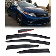 12-13 Honda Civic JDM Style Window Visor MUGEN Rain Guard Deflector Sedan 4Dr