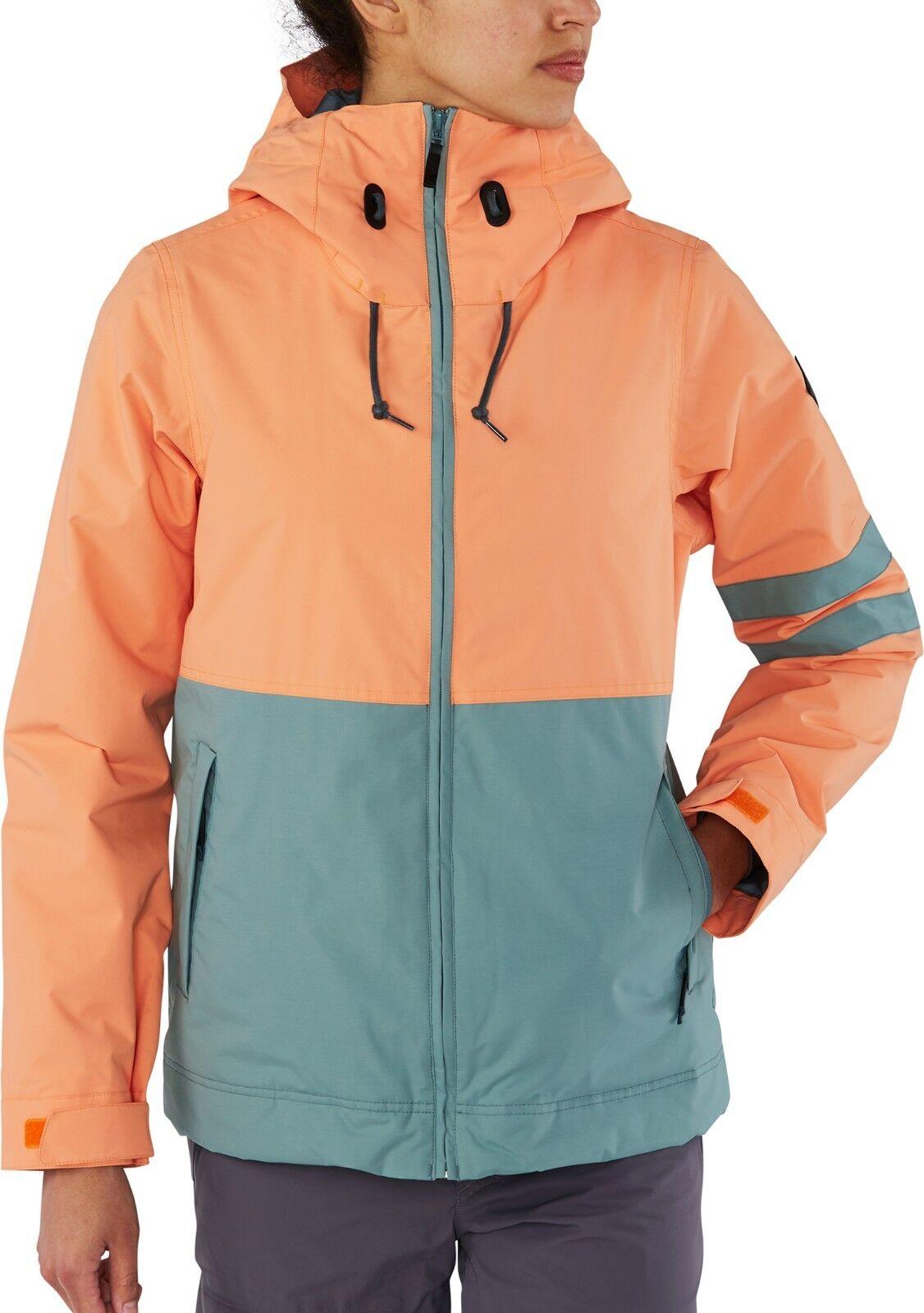 Dakine Juniper Damen Reißverschluss Vorne Snowboard Skijacke Skijacke Skijacke M Melon Neu 2019 1001b6