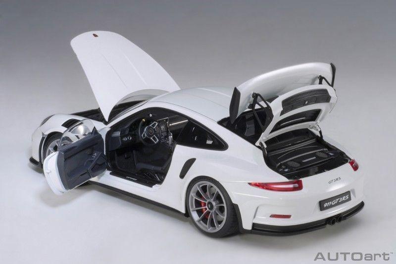 Porsche 911 gt3 rs weiße autoart 991   dunkelgrau räder 18  brandneu
