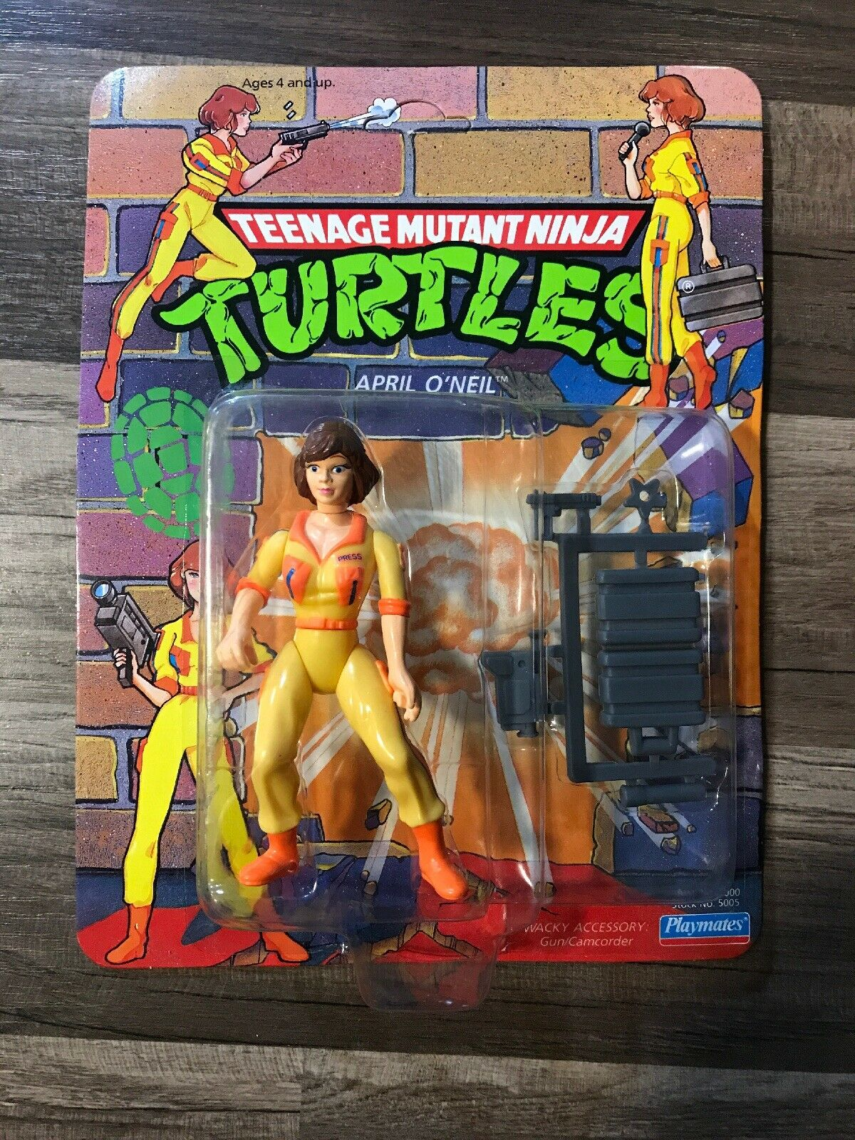 1990 Teenage Mutant Ninja Turtles April O'Neil Action Figure Unpunched NIP New