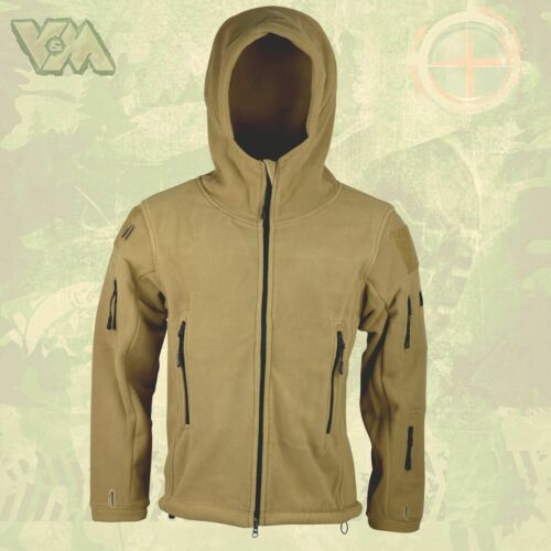 Fleece Hooded Jacket Combat Military Tactical Outdoor Army Cold Protection Bw