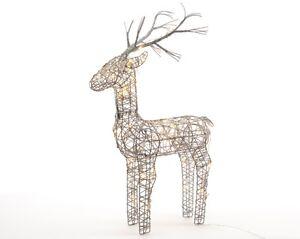 Grey-Lumineo-60cm-Wicker-Light-Up-LED-Reindeer-Decoration-48-Warm-White-LED-039-s-G