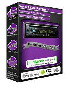 Coche-Smart-para-cuatro-Radio-DAB-Pioneer-CD-Estereo-USB-PLAYER