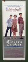 1984 Sixteen Candles Original Poster 14x36 Molly Ringwald, John Hughes Comedy
