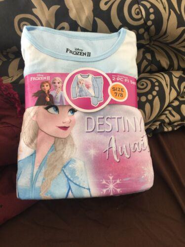 Girls Frozen 2 Flannel Pajama Set Size 7//8
