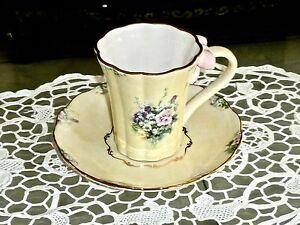 Beautiful Collectable Famous Lena Liu S Cream Carnation Cup Saucer