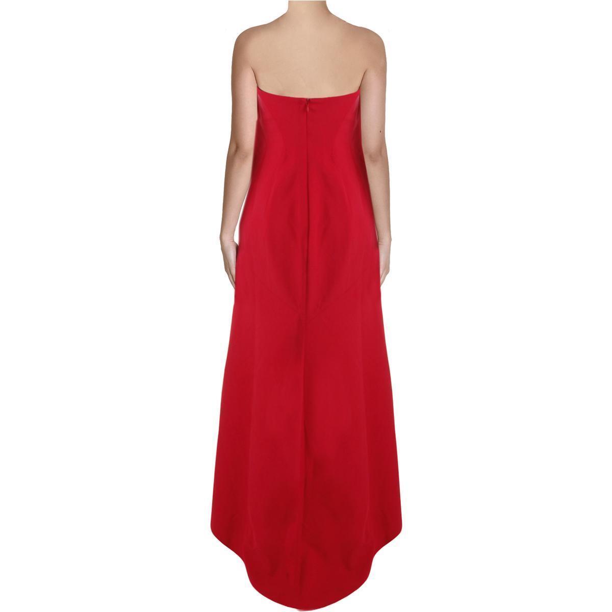 BCBG Max Azria 1313 Womens Surrey Red Strapless Prom Evening Dress ...