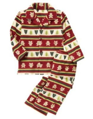 GYMBOREE GINGERBREAD COOKIE FLEECE 2-PC PJ/'S GYMMIES 12 18 24 2T 3 4 10 12 NWT