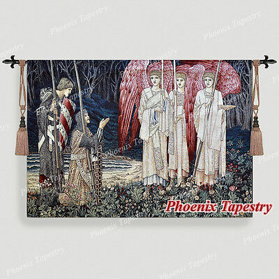 "William Morris Medieval Holy Grail Wall Tapestry- The Achievement I, 55""x38"", US"