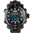 Infantry IN-060-BLK-R 51mm Black Dial Black Silicone/Rubber Strap Wrist Watch for Men