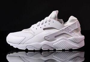 best sneakers b2cf9 a44e6 Image is loading NIKE-HUARACHE-MENS-318429-111-TRIPLE-WHITE-RETRO-