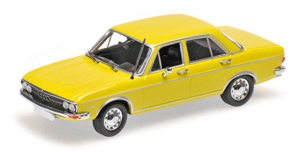 Minichamps 430019109 Audi  100 - 1969-jaune Scale  1 43  qualité garantie