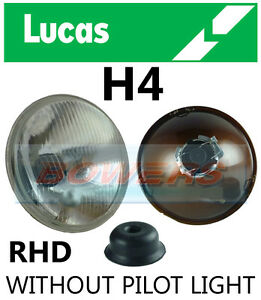 LUCAS-7-034-INCH-CLASSIC-CAR-SEALED-BEAM-HEADLAMP-HEADLIGHT-HALOGEN-H4-CONVERSION