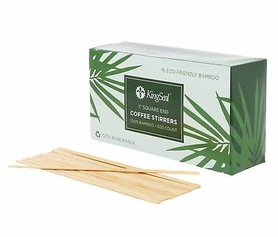 Kingseal Bamboo Wood Coffee Beverage Stirrers Square End 7 Inches 2 Boxes 602571772180 Ebay