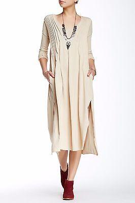 NWT Free People Sophie Dress, CHAMPAGNE, Beige, Midi, OB394209, Medium  M