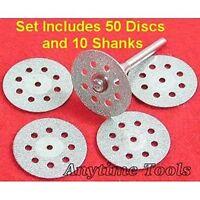 50 Diamond Cut-off Wheels Lapidary Disc Saw Fits Dremel on Sale