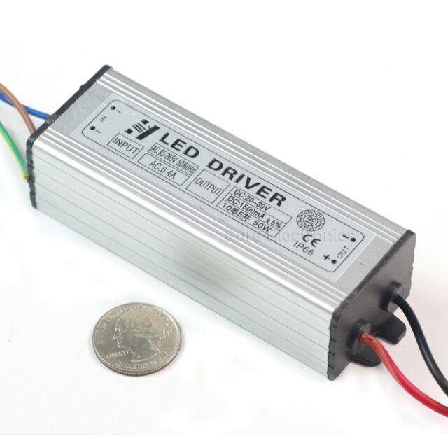 50W Watt High Power LED Driver AC85V-265V 50-60HZ Waterproof