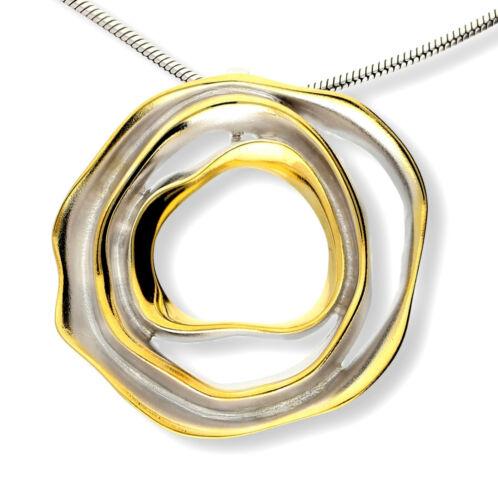 ETUI Echtes 925 Silber Schmuckset ANHÄNGER mattiert teilweise vergoldet inkl