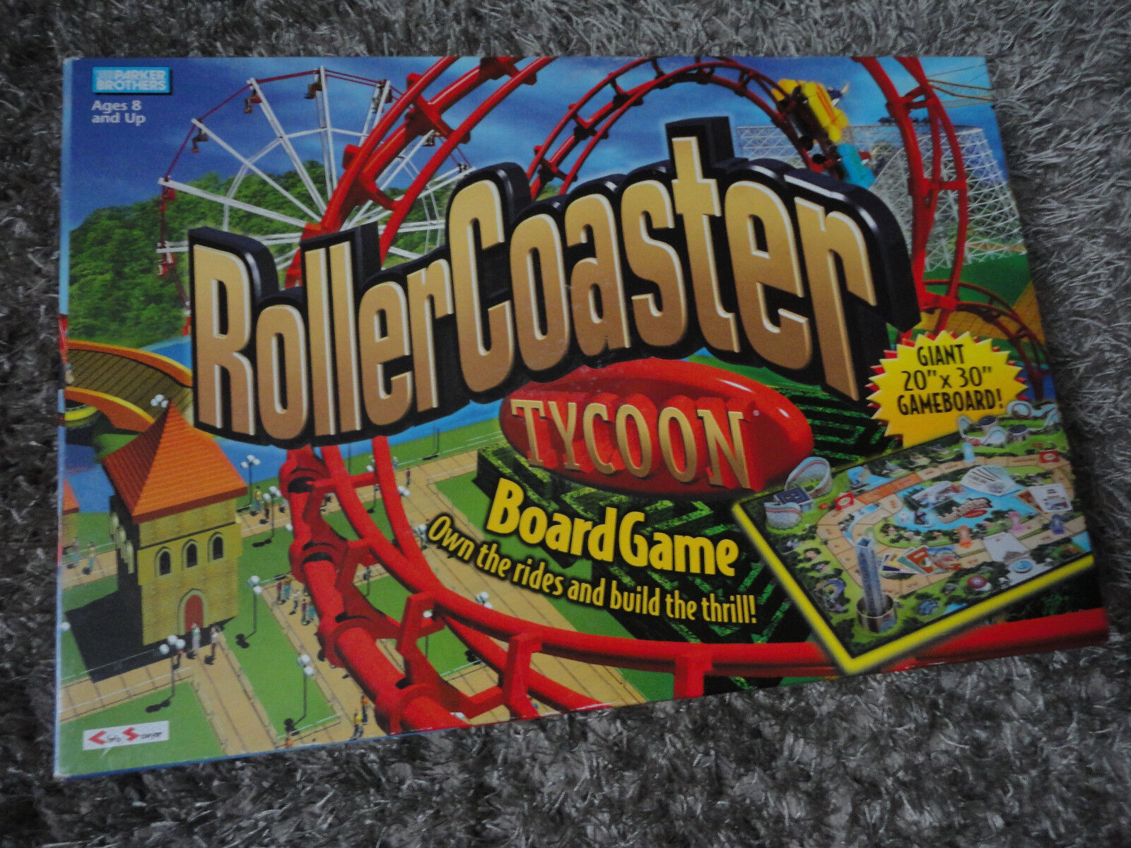 Rollercoaster Tycoon Board Game Roller Coaster Trill Rides by Parker Brothers