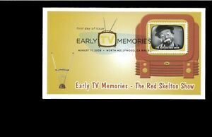 2009-FDC-Early-TV-Memories-Red-skelton-Show-North-Hollywood-CA