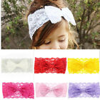 1PC/7PCS Girl Baby Bowknot Headband Lace Stretch Turban Knot Head Wrap Hairband