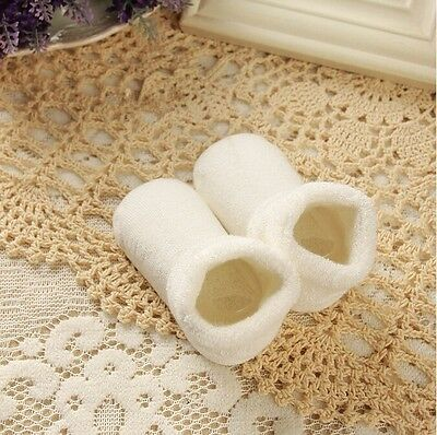 Pure Color Thick Cotton Terry Newborn Baby Socks Autumn Winter New 10cm