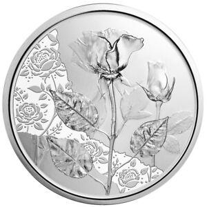10 Euro Silbermünze Rose 2021 Mit der Sprache der Blumen im Blister Handgehoben