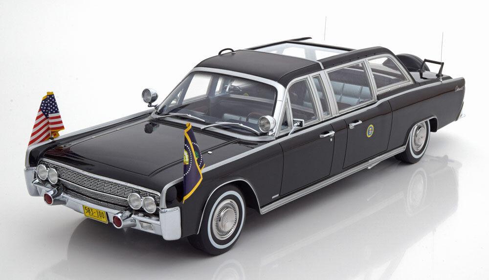 1964 Lincoln Continental X-100 nero solución rápida escala 1 18 edición limitada de 300