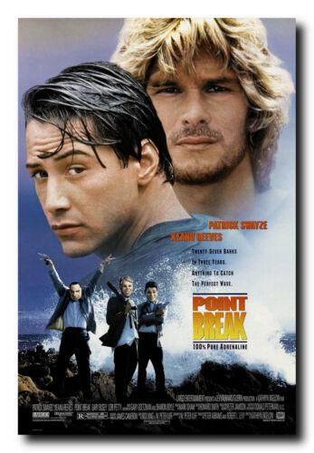 Point Break Movie Poster 24x36 Inch Wall Art Portrait Print Keanu Reeves