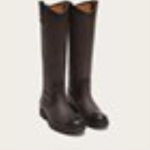 Frye Women's Melissa Button Lug Tall Boots Riding Boots Smoke Grey Size 6