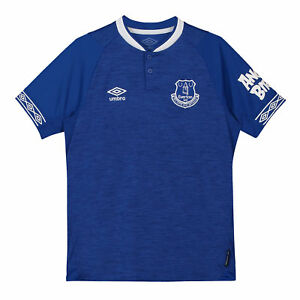 Everton-Official-Home-Shirt-2018-19-Kids-Umbro-Football-Short-Sleeve-Jersey-Blue