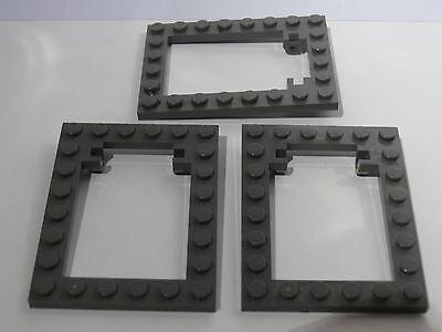 Lego 3 encadrements de trappes gris set 4730 7419 7418 3  dark grey trap frame