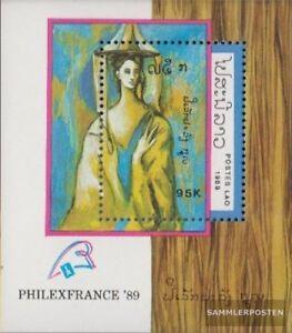 Laos-Block129-kompl-Ausg-postfrisch-1989-PHILEXFRANCE-89-Paris