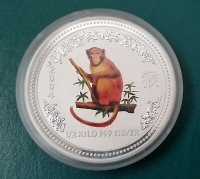 2004 S 50c NGC MS70 AUSTRALIA LUNAR YEAR OF THE MONKEY 1//2 OZ SILVER POP 10 RARE