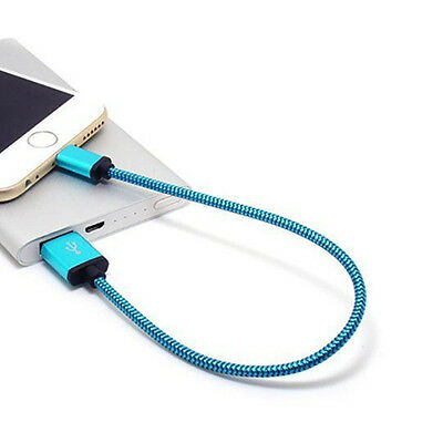 30cm/1Ft Braided Aluminum Micro USB Data&Sync Charger Cable For Android Phones