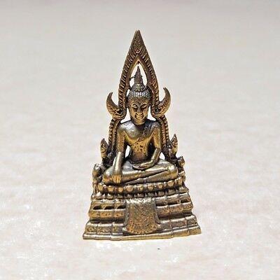"""/""""PRA PUTTHA SHINNARAJ/"""" Thai BUDDHA Mini Amulet Statue Brass Luck Wealth Health"""