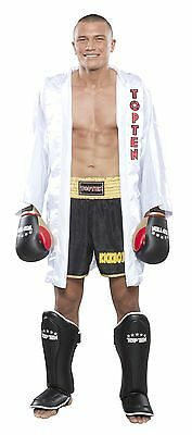"Abile Top Ten-boxmantel. ""get In The Ring"" Bianco. S/m-l/xl. Clistere. Entrance.-"