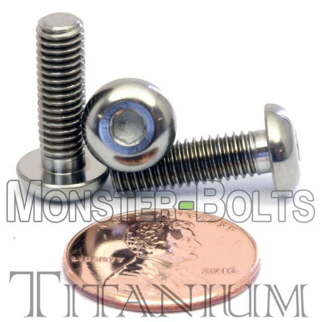 Titanium Ti M5x16 mm Flat Head Bolt Screw with Allen Key Head