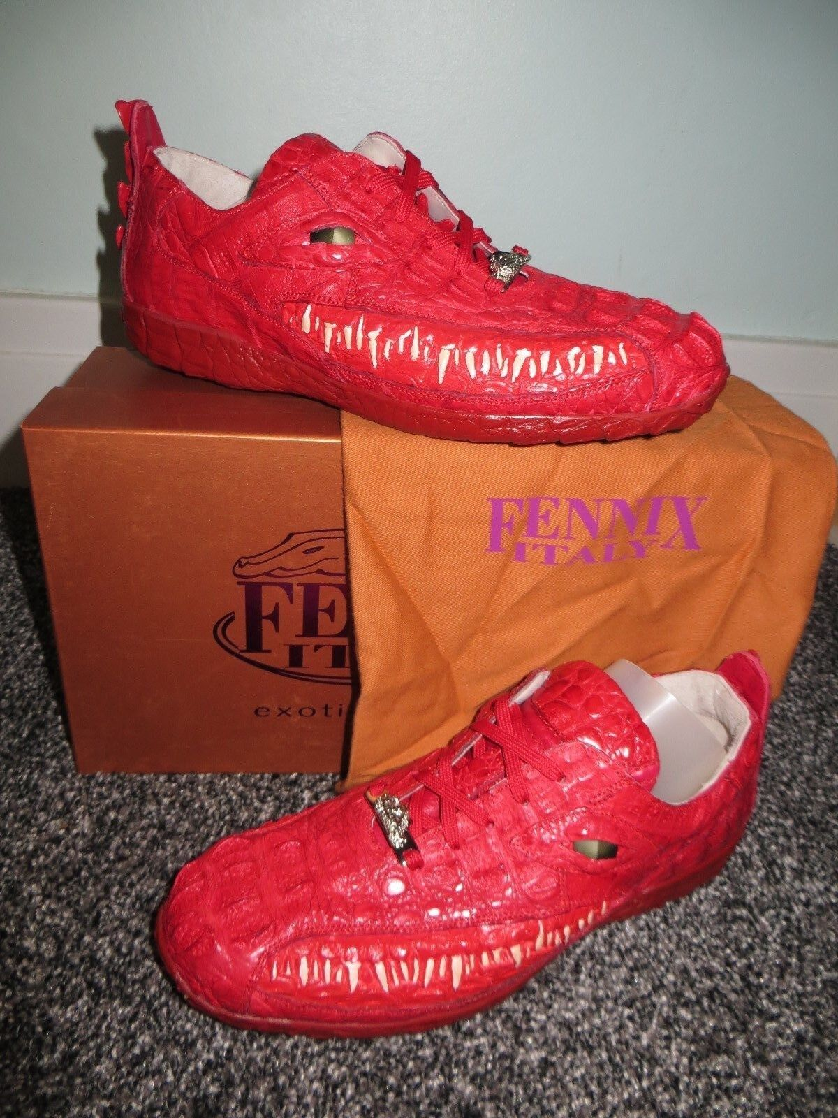 NEW Fennix Italy 3450 Alligator Crocodile Hornback  Casual Shoe 10 Mauri