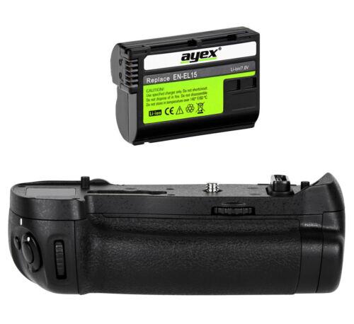 Ayex batería mango mango alta pinzamiento de formato para Nikon d850 batería incl.