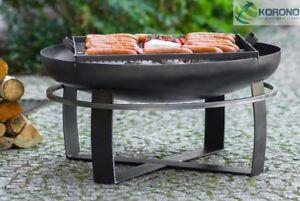 Korono-Feuerschale-80cm-Durchmesser-mit-Stahl-Grillrost-Handmade