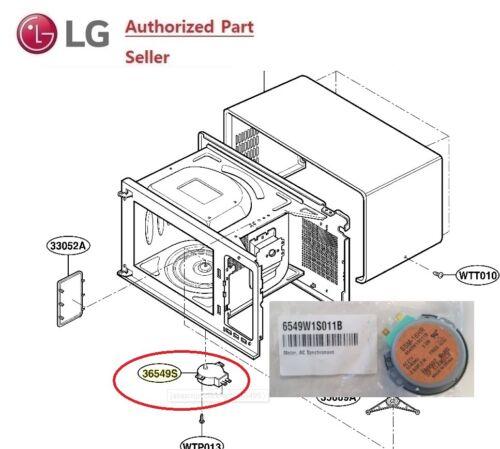 LG Microwave Turntable Motor 6549W1S017A 6549W1S011B  36549S