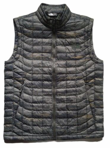 THE NORTH FACE Men/'s ThermoBall Insulated Vest Green Camo Print S Full Zip NEW