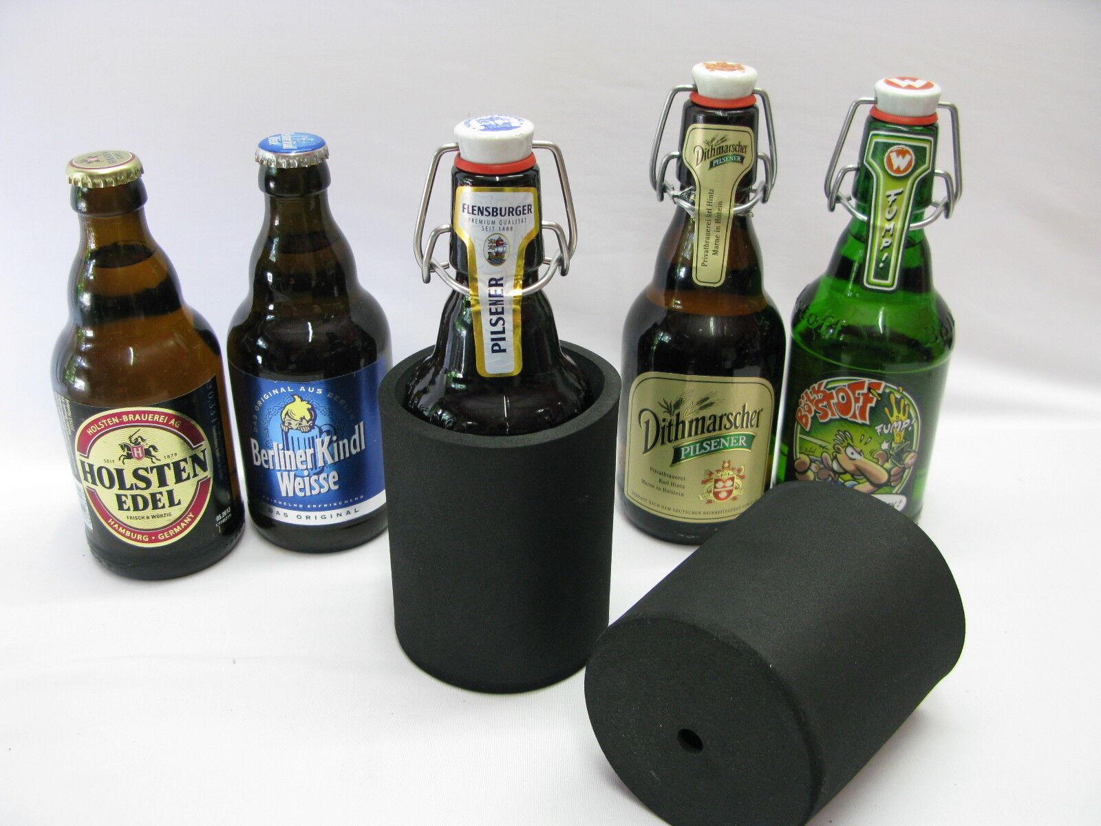 6er Set Getränkekühler 0,33l Flasche - Bierkühler - Neoprenkühler  Stubby Cooler