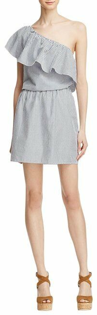 Ella Moss Striped One-Shoulder Dress Size S BNWT