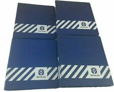 4 New Holland Tractor Machinery 3 Ring Parts Service Manual Binder 2 Blue Empty
